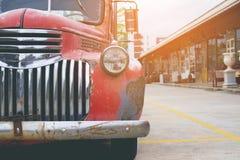 Automobile classica d'annata della lampada del faro Fotografia Stock Libera da Diritti