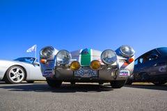 Automobile classica d'annata esotica su esposizione Fotografia Stock
