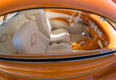 Automobile classica, interno estremo Immagini Stock