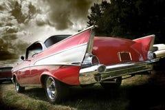 Automobile classica rossa Immagini Stock Libere da Diritti