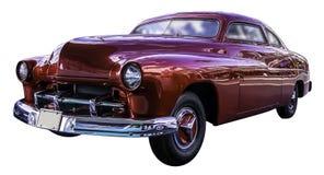 Automobile classica rossa americana isolata su fondo bianco con workp Immagini Stock
