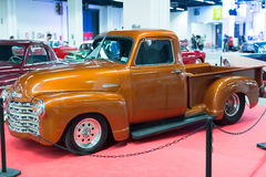 Automobile classique de vintage à l'exposition Image libre de droits