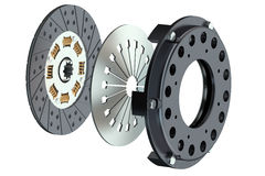 Automobile clutch closeup Royalty Free Stock Images
