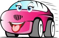 Automobile colorata divertente del fumetto fotografia stock
