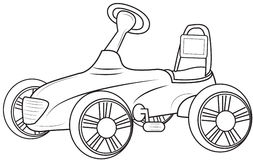 Automobile coloring page Royalty Free Stock Image
