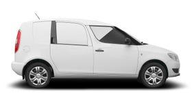 Automobile commerciale bianca di combi Immagini Stock Libere da Diritti