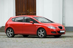 Automobile compatta rossa fotografia stock