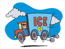 Automobile con ghiaccio Fotografia Stock