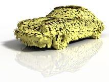 Automobile con gli autoadesivi Fotografia Stock