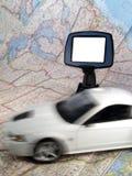 Automobile con il GPS Immagine Stock