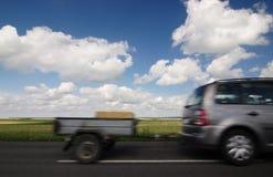 Automobile con il rimorchio Immagini Stock Libere da Diritti