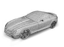 Automobile con la griglia. Vettore Fotografia Stock