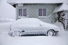 Automobile congelata Fotografie Stock