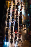 Automobile congestion in the night Stock Images