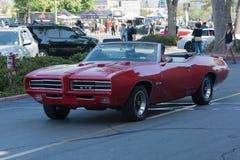 Automobile convertibile di Pontiac GTO su esposizione Fotografia Stock Libera da Diritti