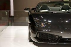 Automobile convertibile nera Immagini Stock