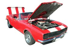 Automobile convertibile rossa isolata Fotografia Stock