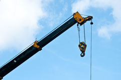 Automobile crane with blue sky. Stock Image
