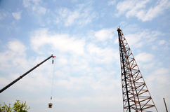 Automobile Crane and Drop hammers Machine Stock Photography