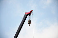 Automobile Crane working for building Stock Photography