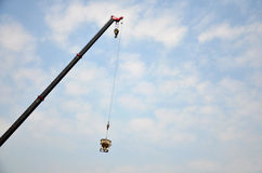 Automobile Crane working for building Royalty Free Stock Photo