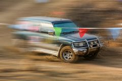 Automobile cross-country rally in China Royalty Free Stock Image