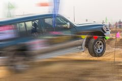 Automobile cross-country rally in China Royalty Free Stock Images