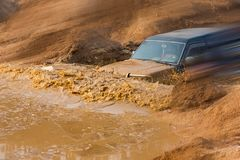 Automobile cross-country rally in China Stock Images