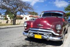automobile Cuba vecchio varadero Fotografia Stock Libera da Diritti