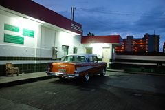 Automobile cubana d'annata Immagini Stock Libere da Diritti