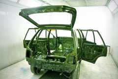 automobile custom design repaint workshop 免版税图库摄影