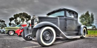 Automobile d'annata dell'americano degli anni 20 Fotografie Stock