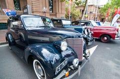 Automobile d'annata di Chevrolet con colore nero nei saloni dell'automobile classici il giorno dell'Australia Fotografia Stock Libera da Diritti