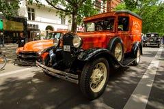Automobile d'annata Ford Model un furgone chiuso Fotografia Stock Libera da Diritti