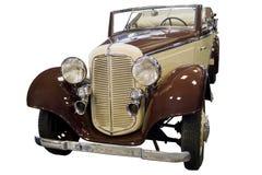 Automobile d'annata giallo-marrone Immagini Stock Libere da Diritti
