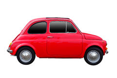 Automobile d'annata rossa isolata Fotografia Stock