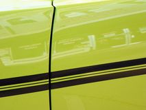 Automobile d'annata verde, retro Fotografie Stock