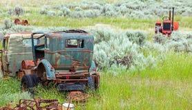 Automobile d'annata vicino alla Columbia Britannica di Kamloops Fotografia Stock