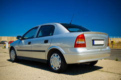 Automobile d'argento Immagine Stock