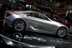 Automobile d'argento di concetto di lexus ZAS Fotografie Stock Libere da Diritti