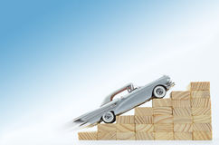 Automobile d'argento veloce Immagini Stock