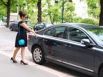 Automobile d'avvicinamento del Brunet Immagini Stock
