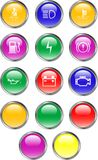 Automobile Dashboard Buttons. Automobile Dashboard Internet icon buttons for graphic or web design Royalty Free Stock Photos