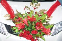 Automobile decorata per le nozze Fotografia Stock Libera da Diritti