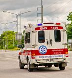 Automobile dei soccorritori. fotografie stock