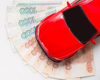 automobile dei soldi Fotografie Stock