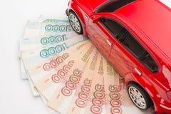 automobile dei soldi Immagine Stock