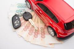 automobile dei soldi Fotografia Stock