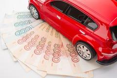 automobile dei soldi Fotografia Stock Libera da Diritti