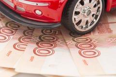 automobile dei soldi Fotografie Stock Libere da Diritti